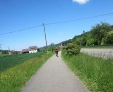 Die letzten Kilometer auf dem Radweg nach Seelbach